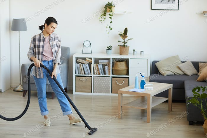 Housewife doing housework