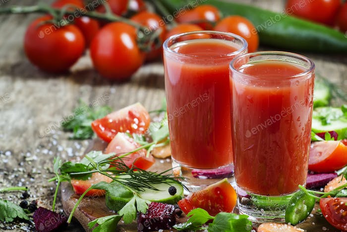 Diet vegetable juice