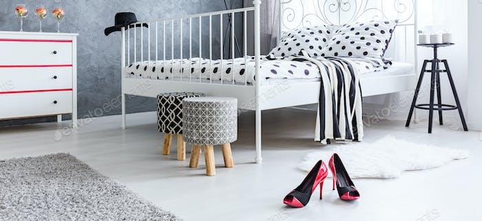 High-heels on the floor