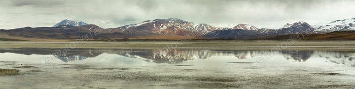 """Aguas calientes""  or ""Piedras rojas"" salt Lake in Sico Pass"