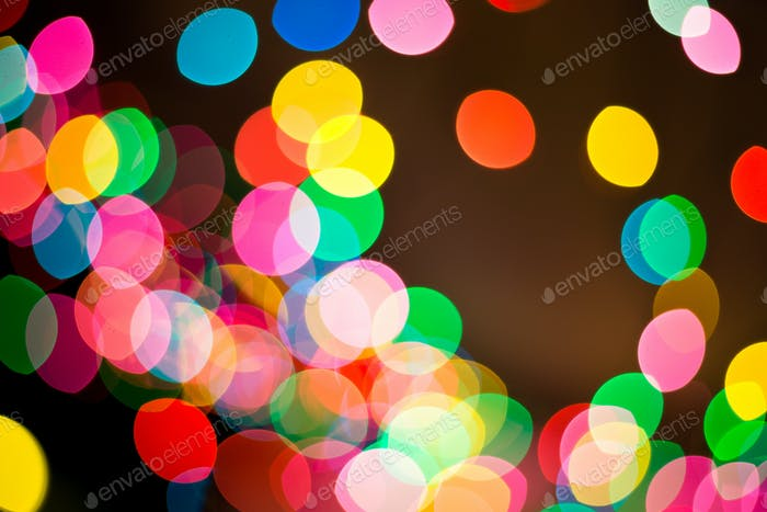 Picture of beautiful bokeh lights for background