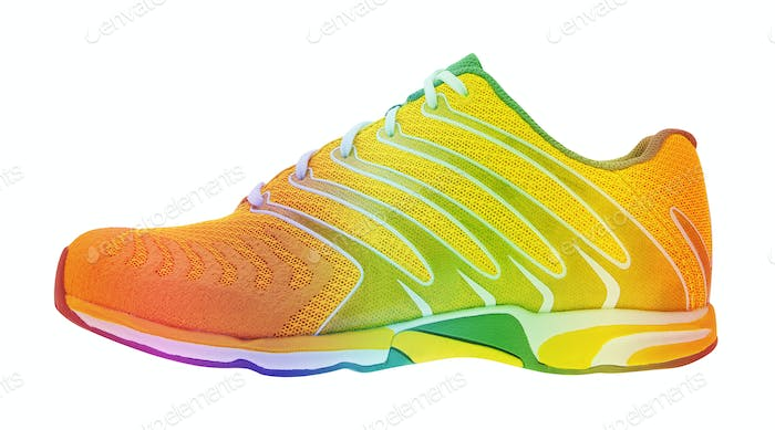 running shoe isolated on white
