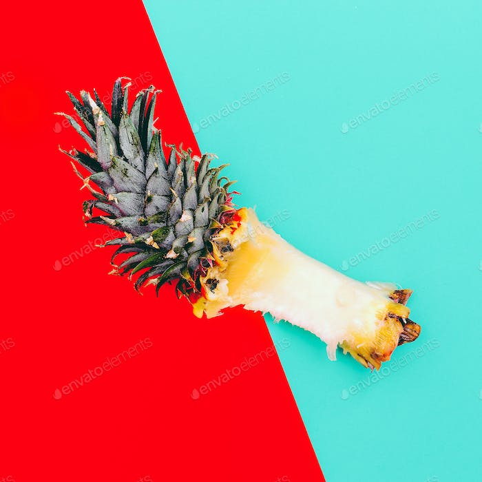 Remains of Pineapple. Minimal Tropic Art