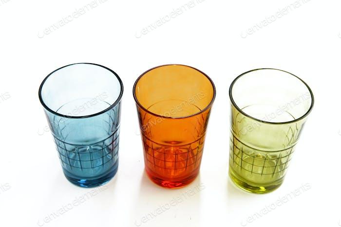Drei bunte Gläser
