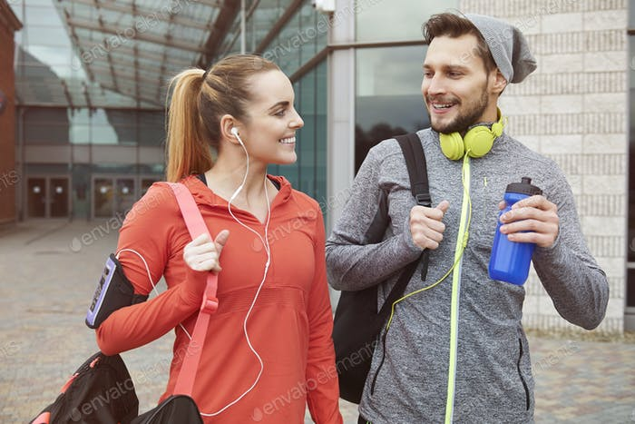 Fitness-Lifestyle des jungen Paares