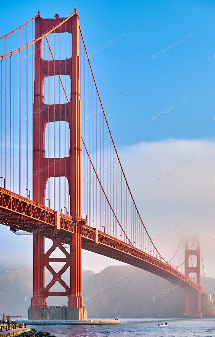 Golden Gate Bridge at morning, San Francisco, California