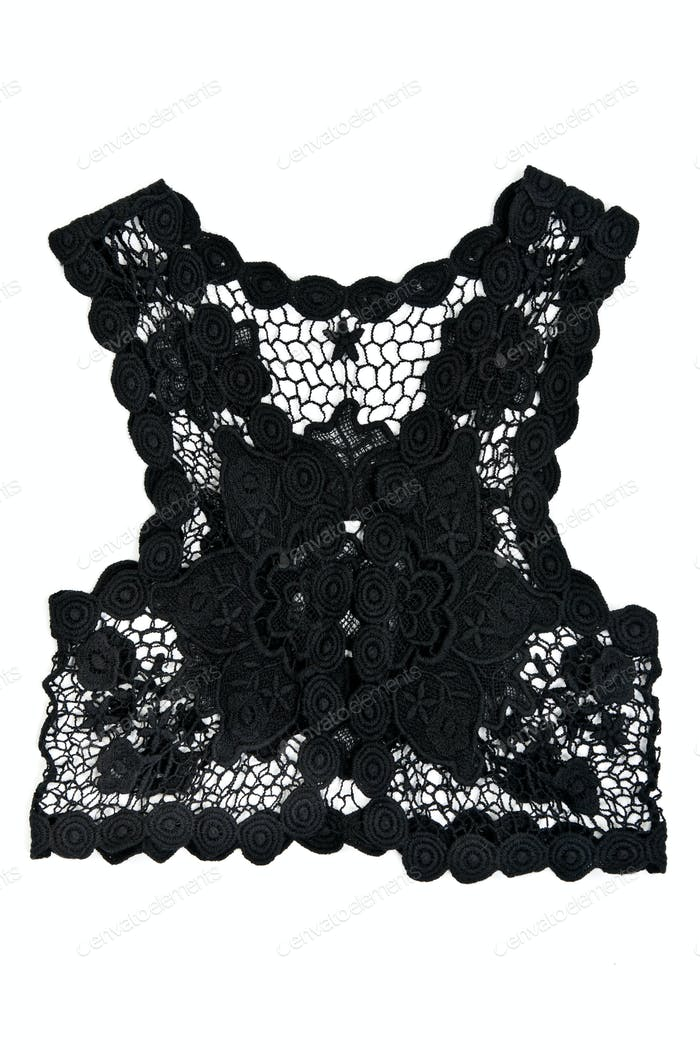 black women's vest from lace