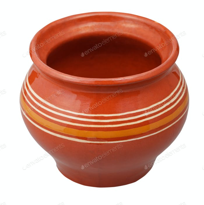 open porcelain pot