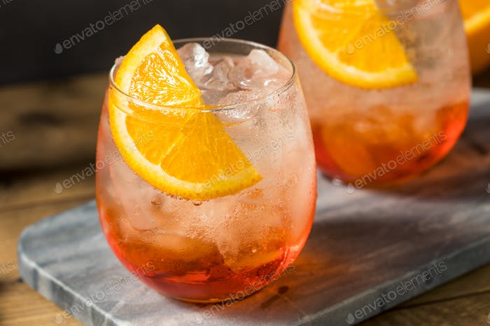 Refreshing Red Aperol Spritz Cocktail