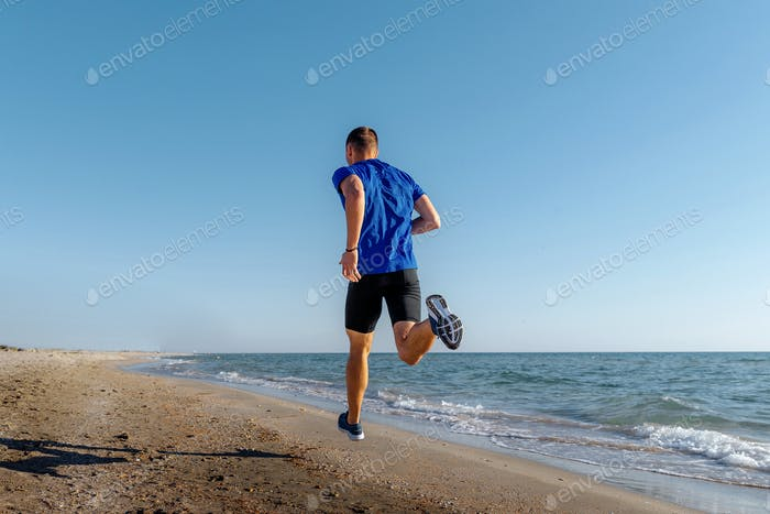 back man athlete running