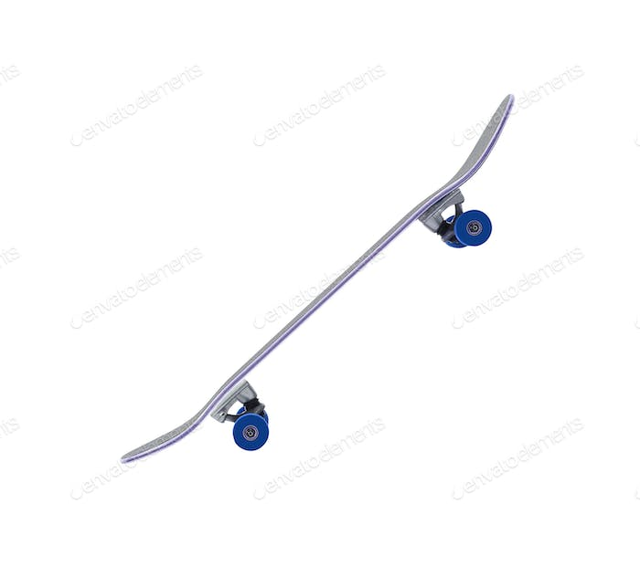 skateboard on a white background