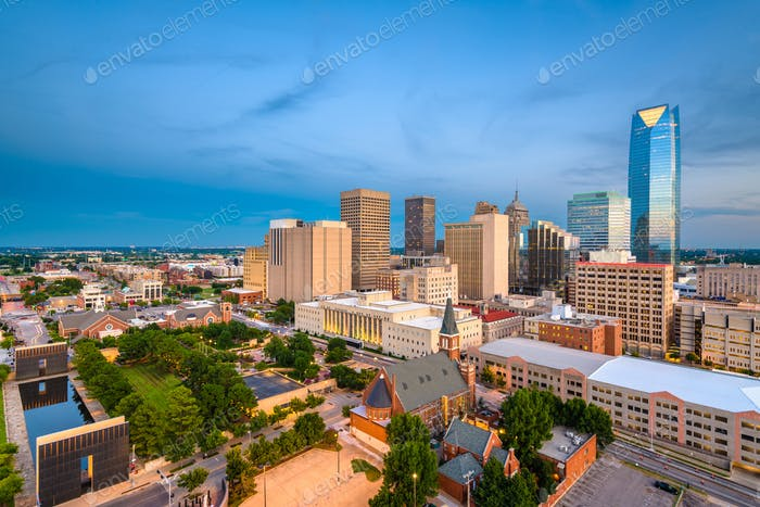 Oklahoma City, Oklahoma, USA Skyline