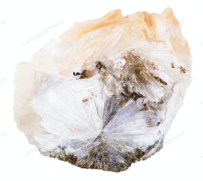 raw Thomsonite stone isolated on white