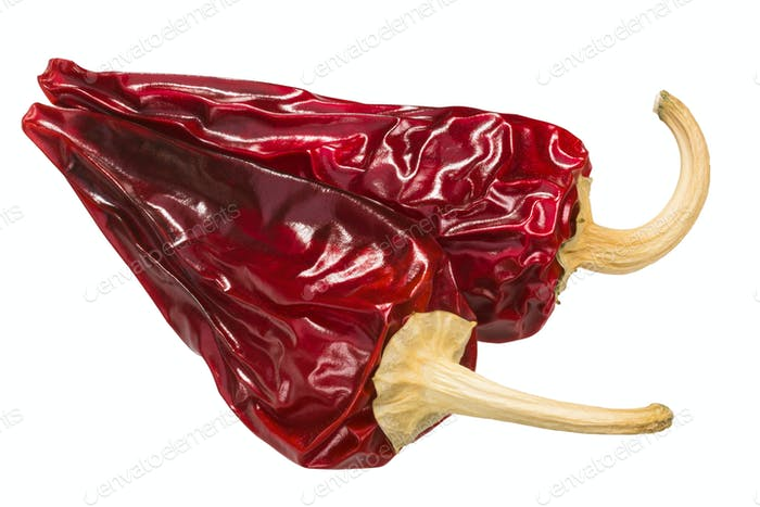 Dried kalocsai paprika pods, top