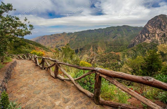 Landschaft von La Gomera, Kanarische Inseln, Spanien