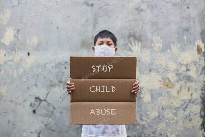 A child protest for child abuse