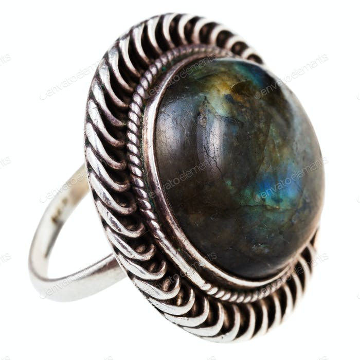 silver ring with