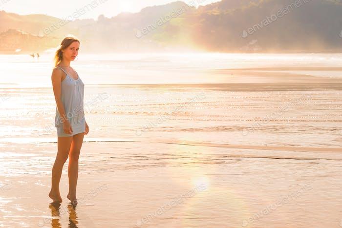 Girl on the seashore