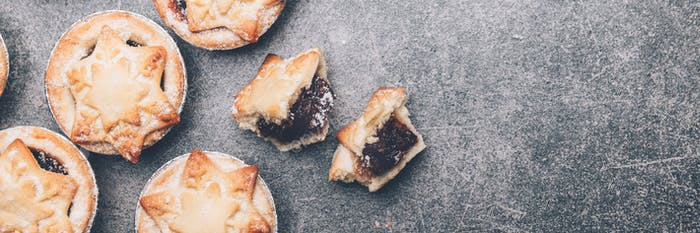 Mince pies, traditional christmas food