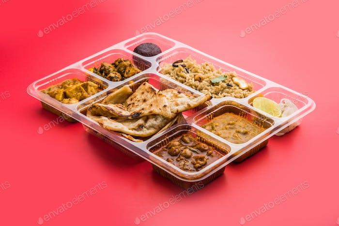 Indische Essensplatte