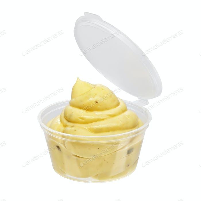 Mayonnaise Sauce Behälter isoliert