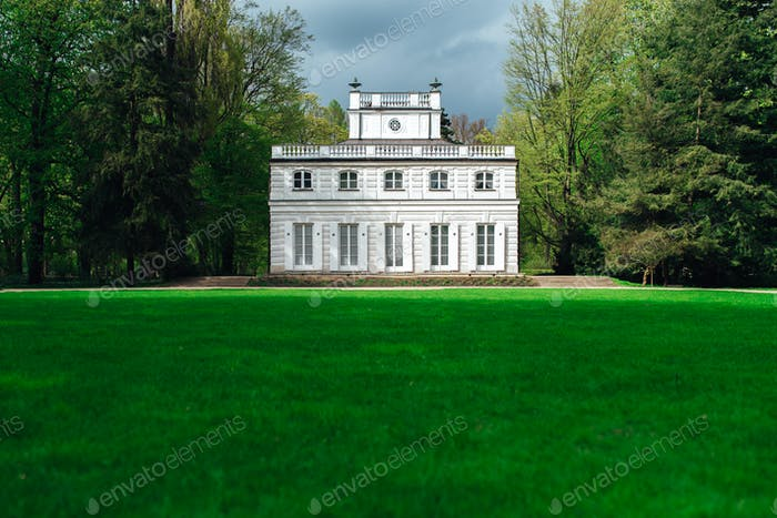 Ancient palace and park ensemble of Lazienki in Warsaw