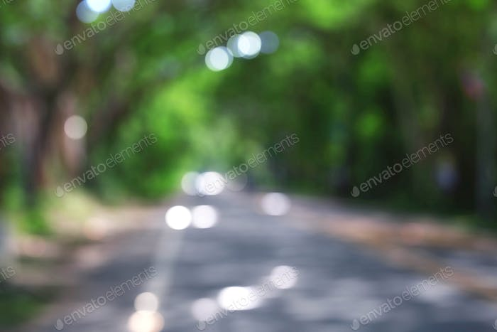 Road with background blurred