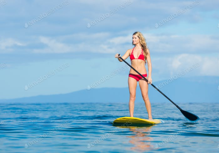 Mujer en Stand Up Paddle Panel