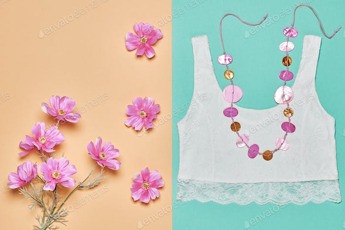 Girl accessories. Flowers