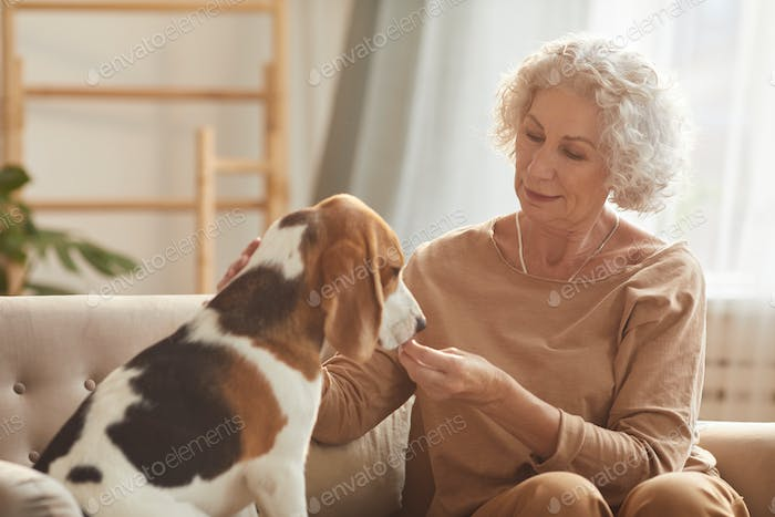Senior Woman with Pet
