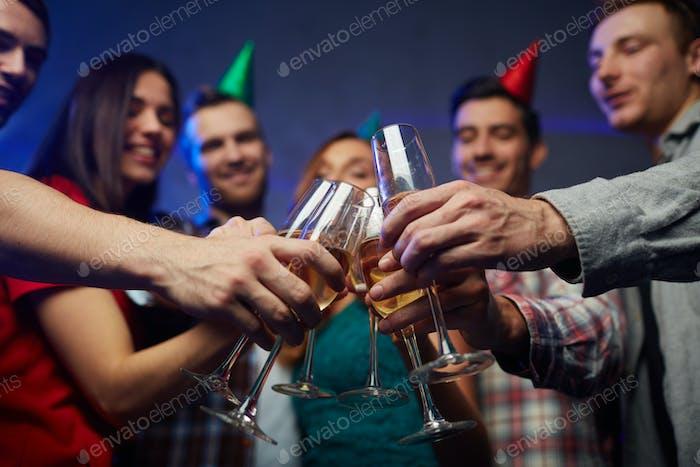 Toasting at booze