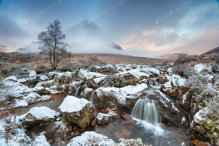 Glen Etive Waterfalls