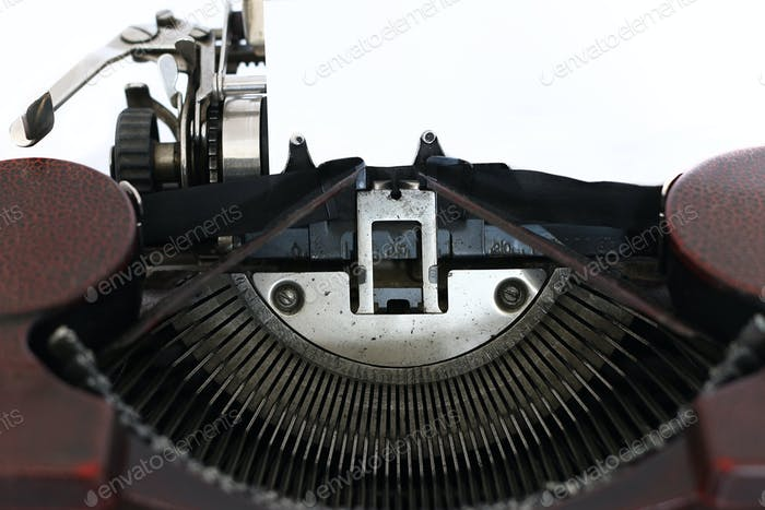 Blank paper in the old typewriter machine