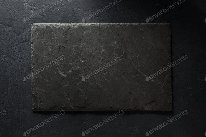 stone and slate on black