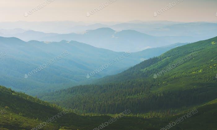 Berglandschaft Nebel