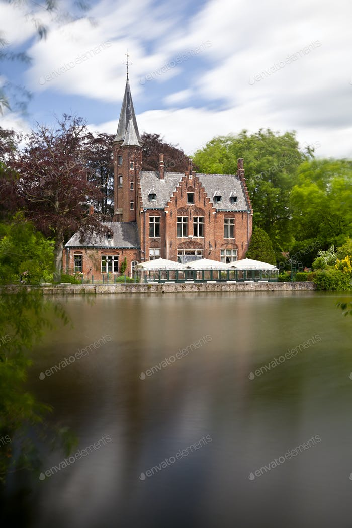 Minnewater House In Bruges, Belgium