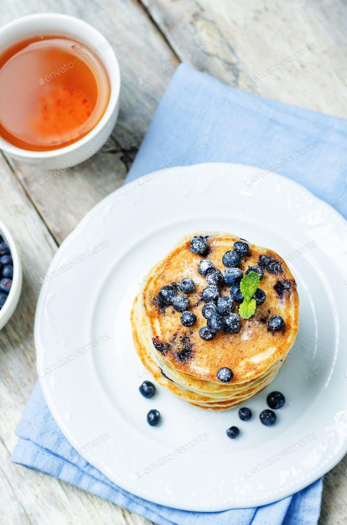 Blaubeere Ricotta Pfannkuchen