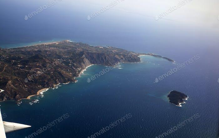 Aerial View of Zakynthos