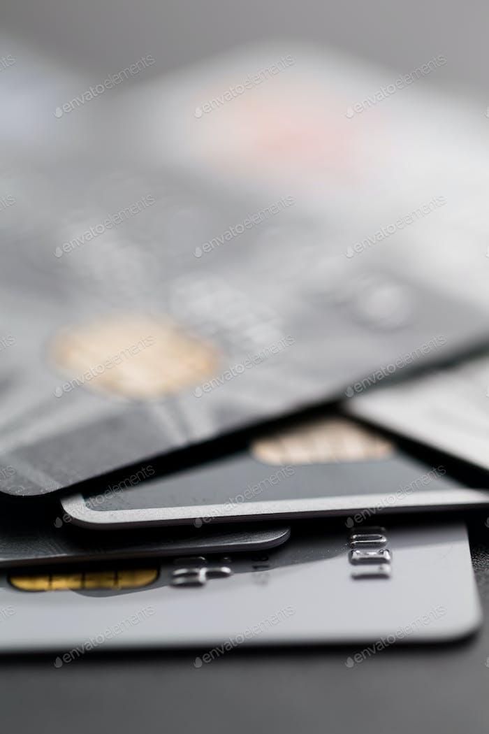 Stapel von Kreditkarten