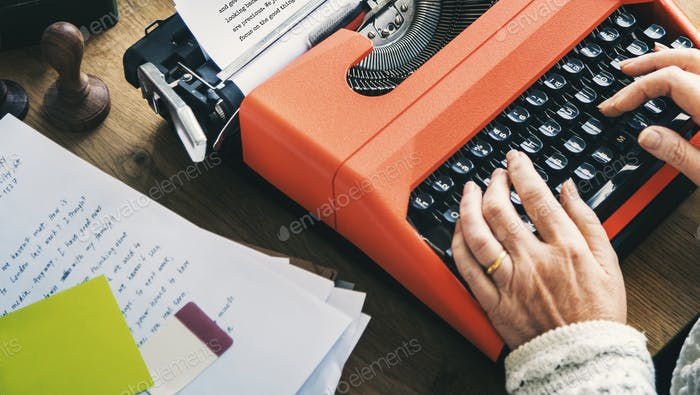 Typewriter Writer Typing Alphabet Letter Message Concept