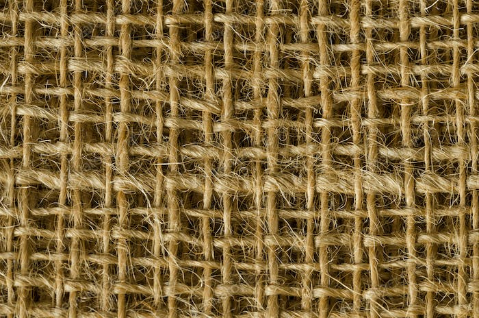 Jute fabric layers from above