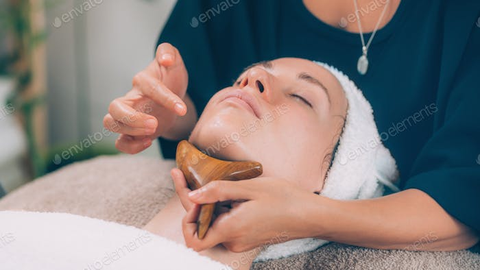 Chin and Jawline Face Lifting Massage