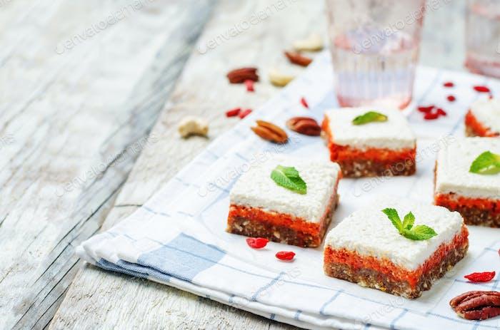 raw vegan cashew godji berries pecan dates bars