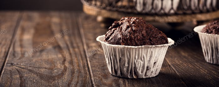 Leckere Schokoladen-Bananen-Muffins
