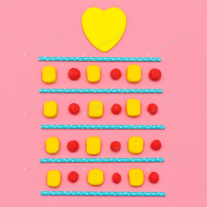 Sweets. Candy Lover.  Minimal Flatlay art