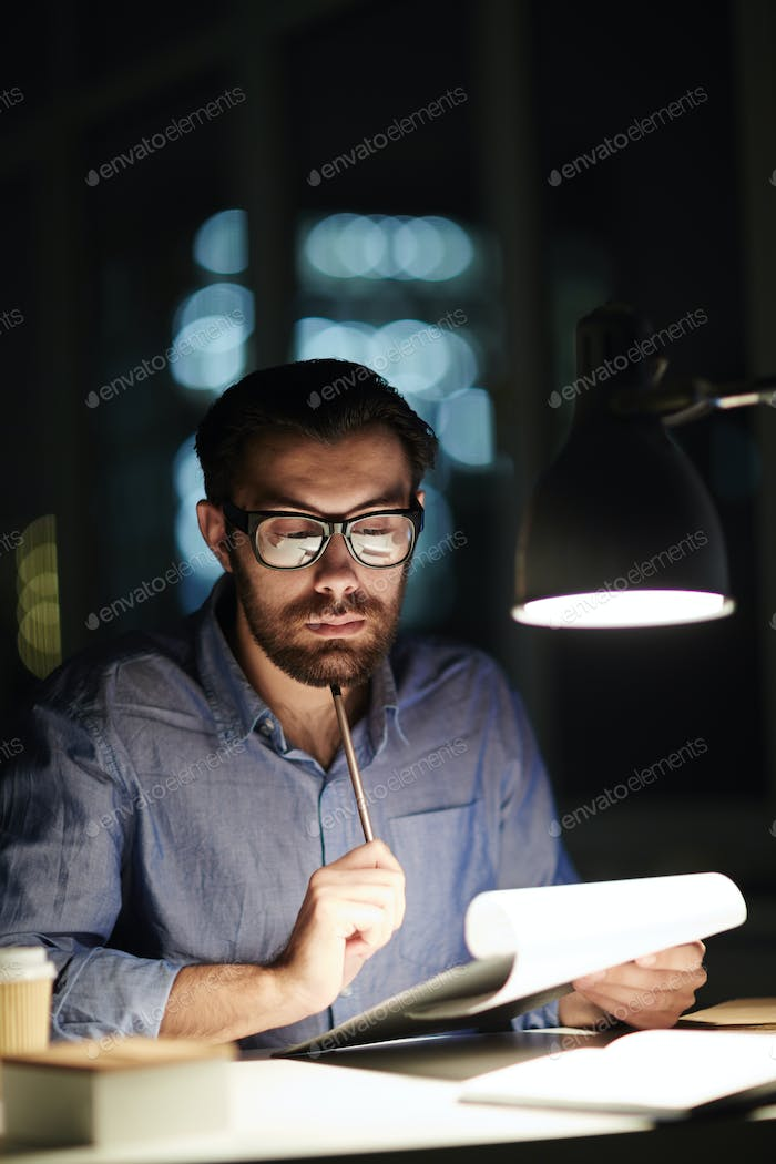 Working with lamp