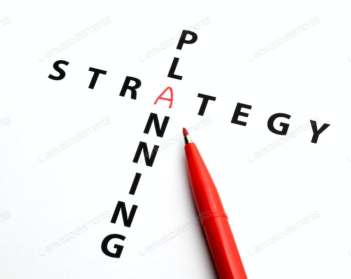 Crossword for planning strategy