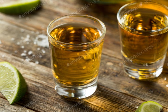 Alcoholic Reposado Tequila Shots