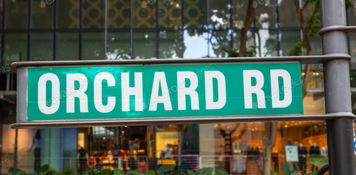 Orchard Road Signpost
