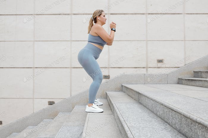 Plus size woman training